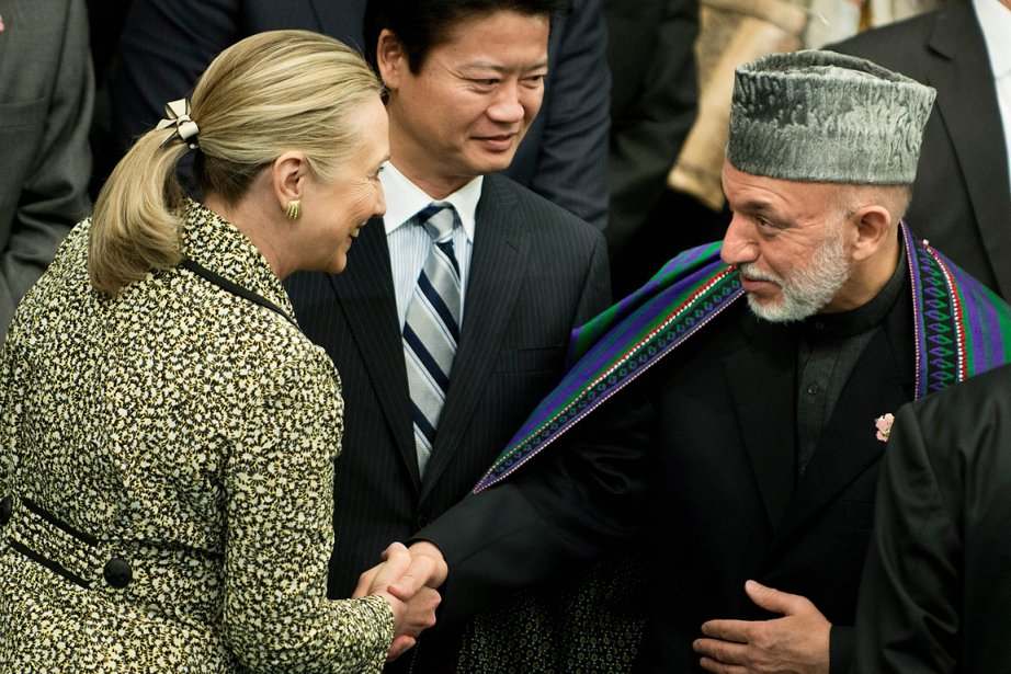 La secrétaire d'État américaine Hillary Clinton (à gauche),... (Photo: AFP)