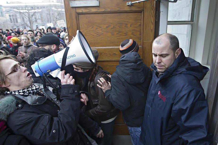 En février dernier, quelque 400 étudiants ont envahi... (Photo: Patrick Sanfaçon, La Presse)