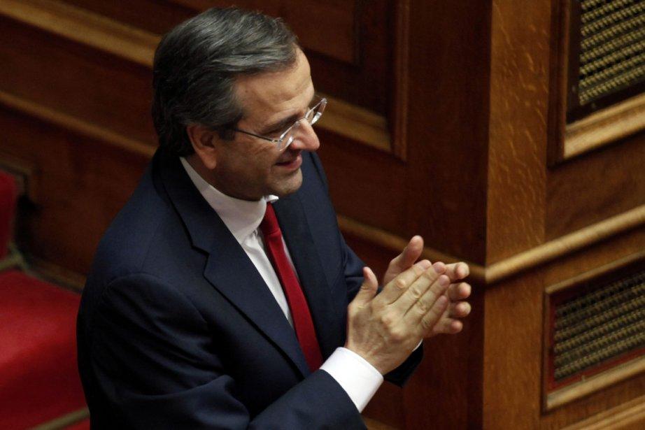Antonis Samaras, le premier ministre conservateur grec.... (Photo : Yorgos Karahalis, Reuters)
