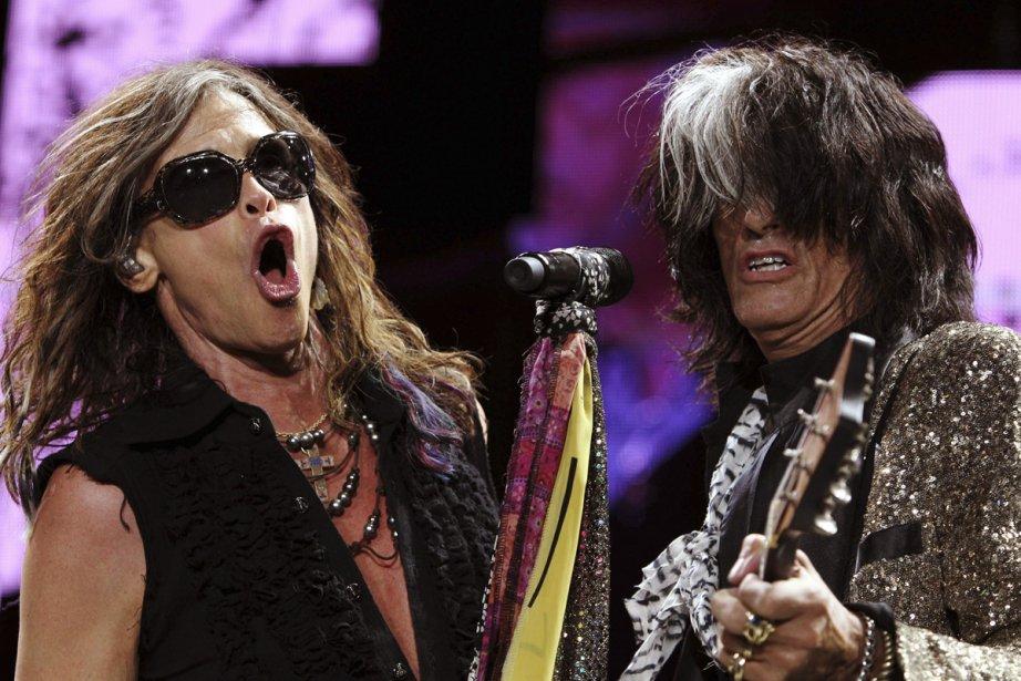 Steven Tyler et Joe Perry du groupe Aerosmith.... (Photo: archives AP)