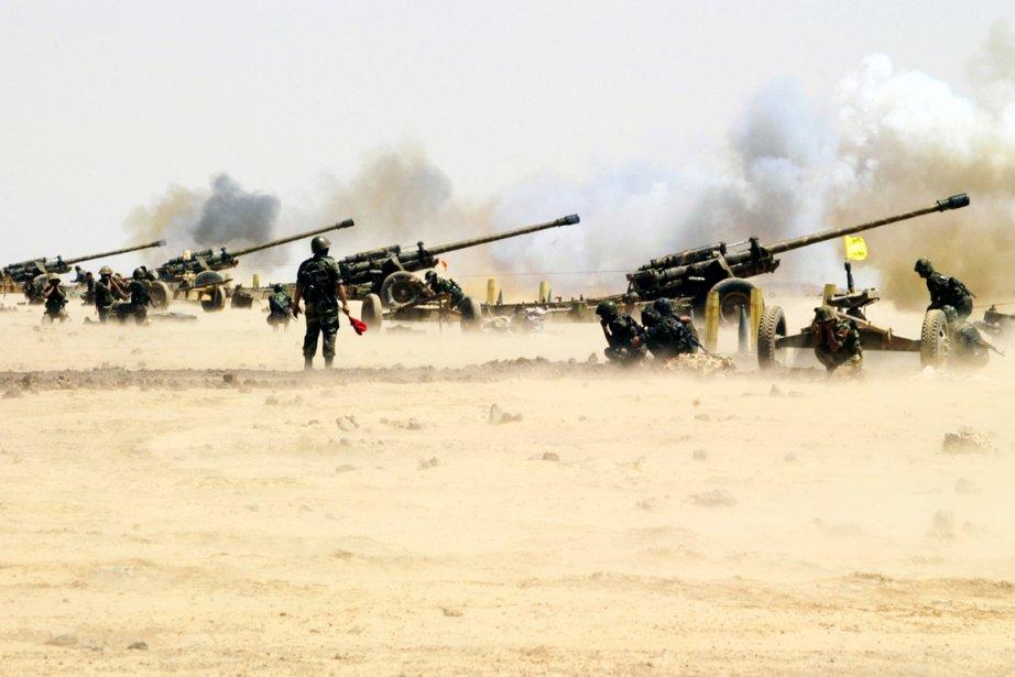 Des soldats syriens photographiés lors de manoeuvres de... (Photo: AFP)