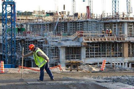 Le chantier du CUSM en octobre 2011.... (Photo: Édouard Plante-Fréchette, La Presse)