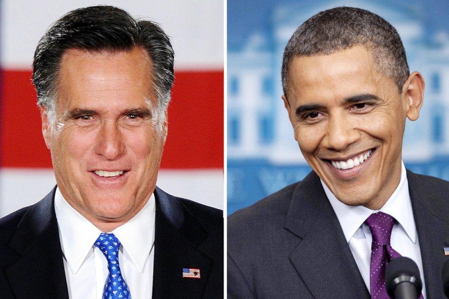 Mitt Romney et Barack Obama... (Photos: AFP)