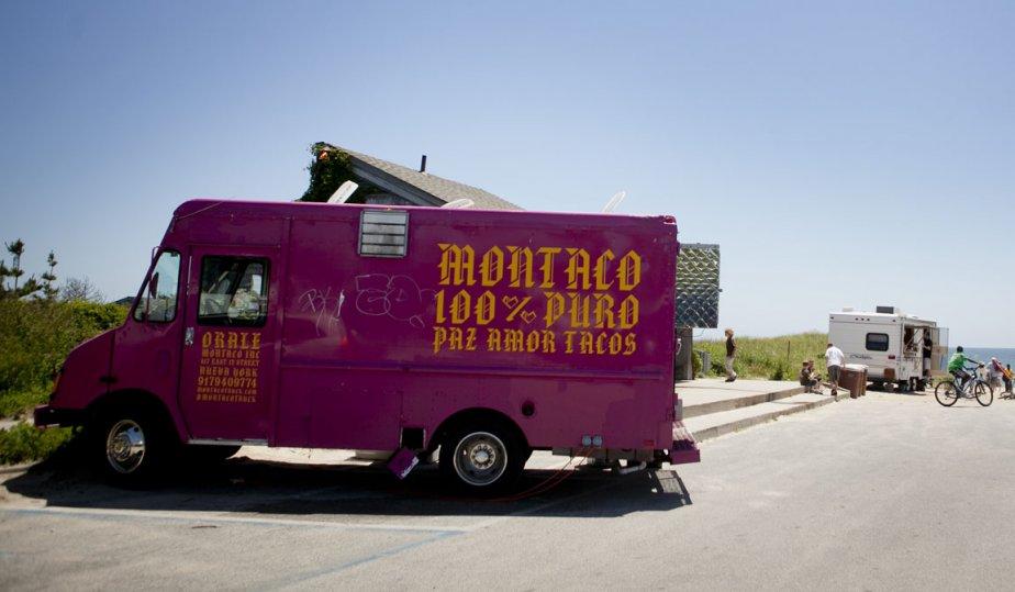 Le camion de tacos, sur la plage de Ditch Plains | 10 juillet 2012