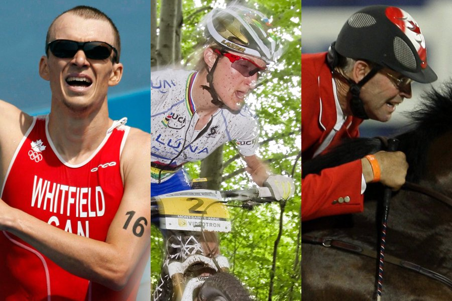 Simon Whitfield (triathlon), Catharine Pendrel (vélo de montagne)... (Photos: PC)