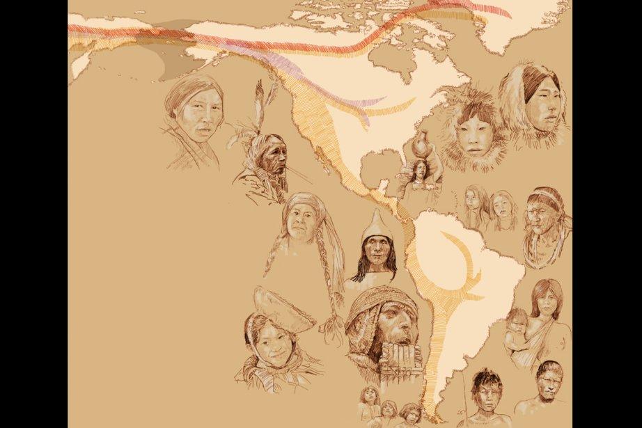 Les premiers habitants des Amériques sont venus à... (ILLUSTRATION EMILIANO BELLINI/FOURNIE PAR LA REVUE NATURE)