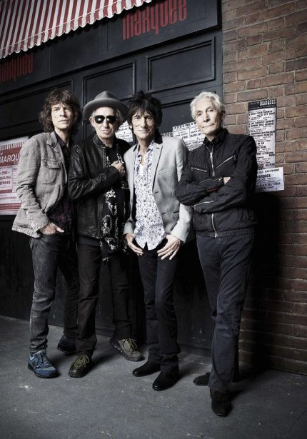 Mick Jagger, Keith Richards, Ronnie Wood et Charlie Watts photographiés en juillet 2012. | 12 juillet 2012