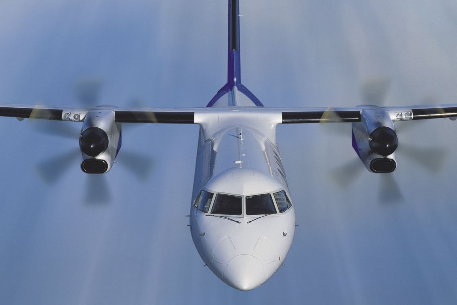 Un appareil turbopropulsé Q400 de Bombardier.... (Photo Archives La Presse Canadienne)