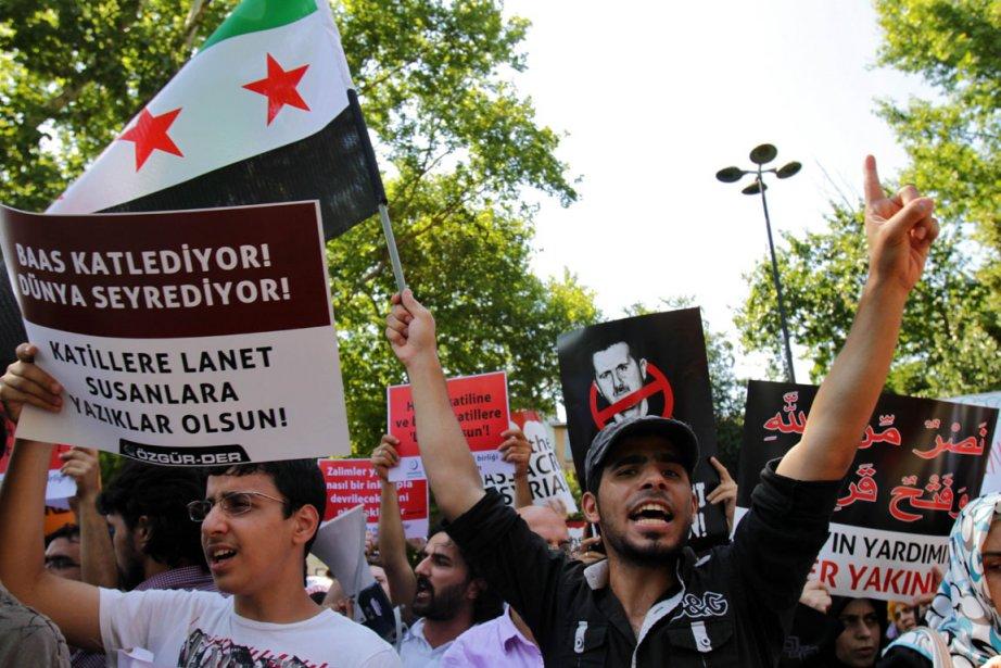 Des Turcs ont dénoncé les violences qui ont... (Photo : Saygin Serdaroglu, AFP)