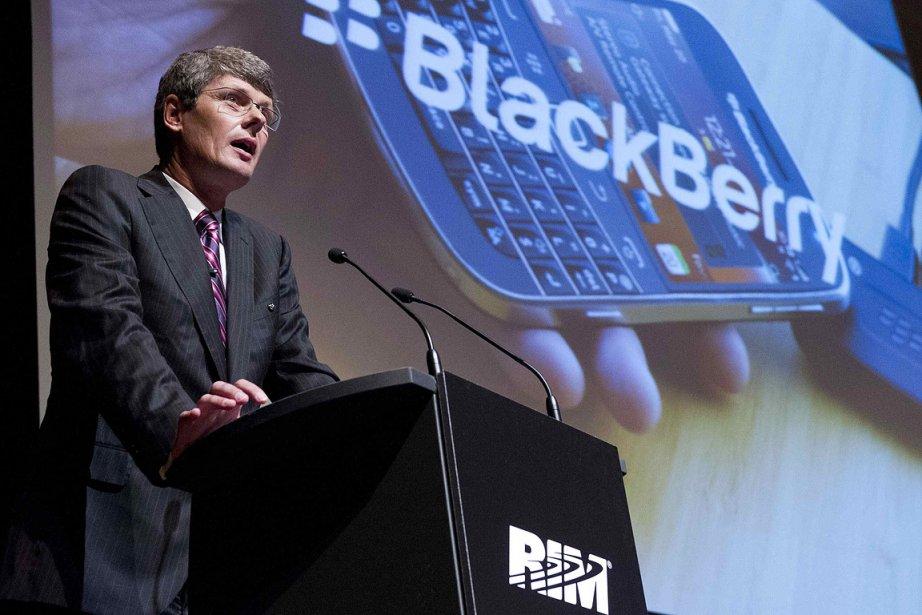 Thorsten Heins, président de RIM, lors de l'assemblée... (Photo: Reuters)
