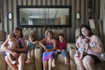 Rachel Brown, mère de 13 enfants, dont 7... (Photo: Édouard Plante-Fréchette, La Presse)