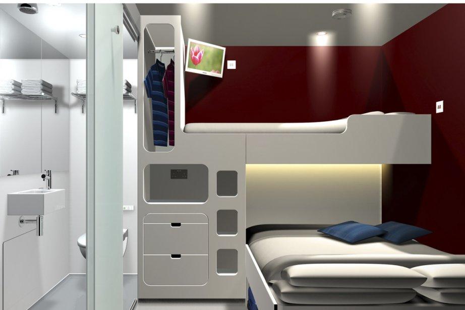 Les chambres ont compactes mais ont tout le... (Photo fournie par Snoozebox)