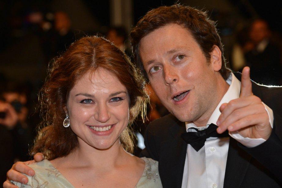 L'actrice Émilie Dequenne en compagnie du réalisateur belge... (AFP)