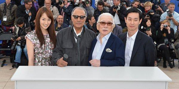 Abbas Kiarostami était accompagné de ses acteurs Rin... (AFP)
