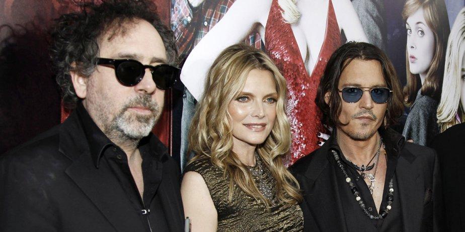 Le réalisateur Tim Burton, en compagnie des acteurs... (AP)