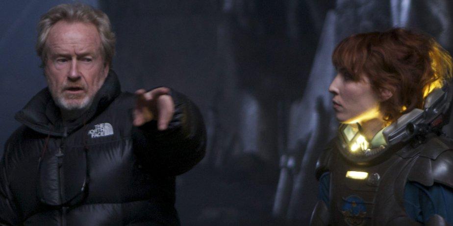 Ridley Scott et Noomi Rapace sur le plateau... (fournie par la production)