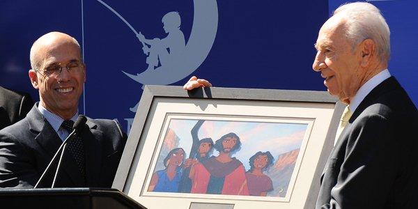 Le PDG de DreamWorks Animation, Jeffrey Katzenberg (à... (AFP)