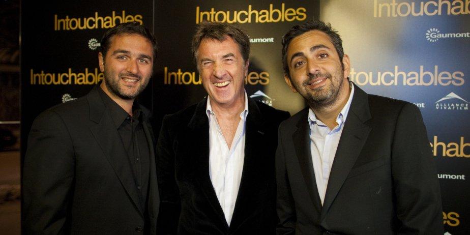 Olivier Nakache, François Cluzet et Éric Tolenado sur... (André Pichette, La Presse)