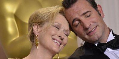 Meryl Streep et Jean Dujardin.... (Photo AFP)