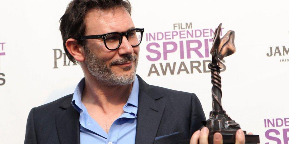 Le réalisateur de L'Artiste, Michel Hazanavicius, pose avec... (Joel Ryan, AP)