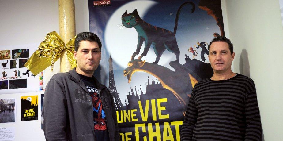 Alain Cagnol (gauche) et Jean-Loup Felicioli (droite), coréalisateurs... (AFP)