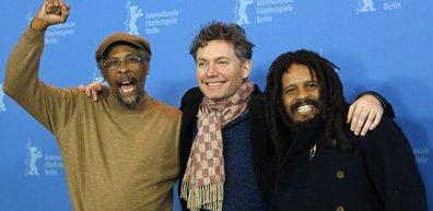 Neville Garrick, Kevin Macdonald et Rohan Marley.... (Photo AP)