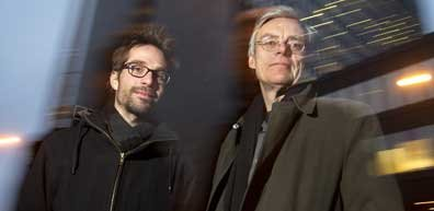 Martin Villeneuve et Francois Schuiten.... (Photo Robert Skinner, La Presse)