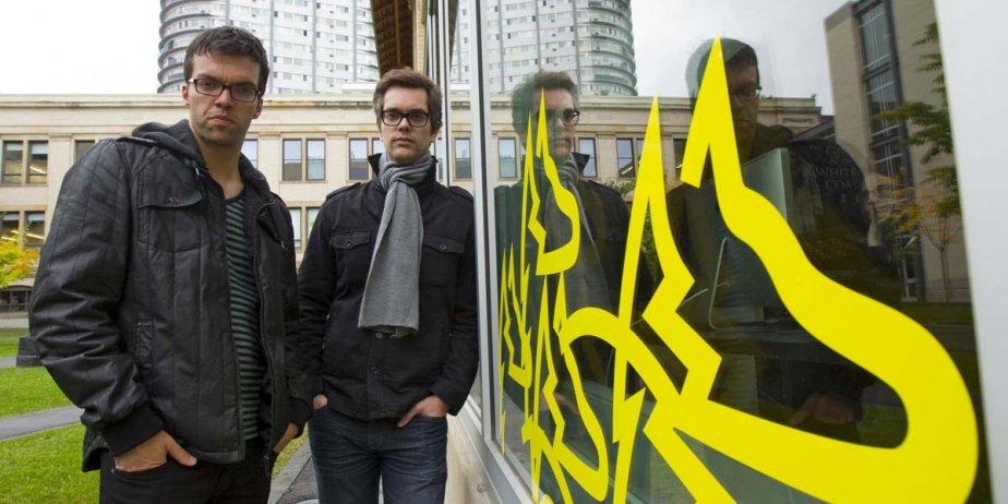 Simon Lavoie et Mathieu Denis, les deux réalisateurs... (Alain Roberge, La Presse)