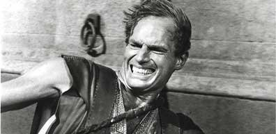 Charlton Heston dans Ben-Hur.... (Photo AFP)