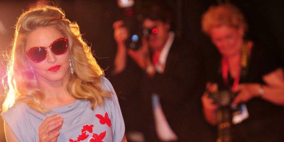 Madonna a fait tourner les têtes hier en... (AFP)