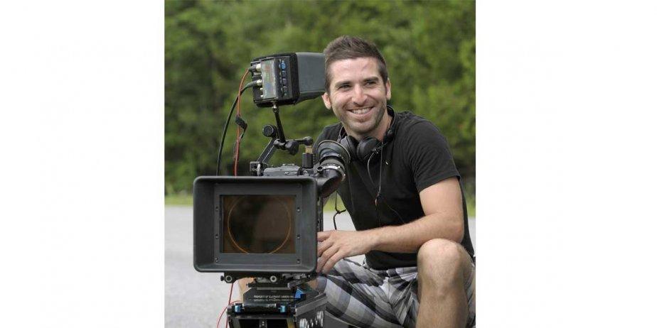 Guy Édoin lors du tournage de Marécage.... (Philippe Bossé / Max Films)