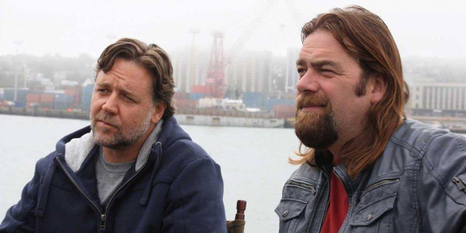Russell Crowe, à gauche, et le chanteur du... (PC)
