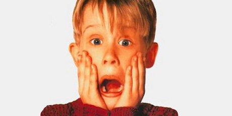 Macaulay Culkin dans Home Alone....