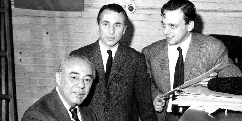 Le compositeur Richard Rodgers, son collaborateur Stephen Sondheim... (archives AP)