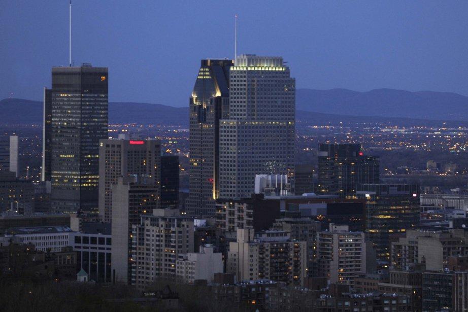 Vue sur le centre-ville de Montréal.... (Photo Bernard Brault, archives La Presse)