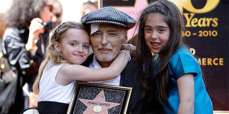 Dennis Hopper a maintenant une place permanente à Hollywood. (Reuters)