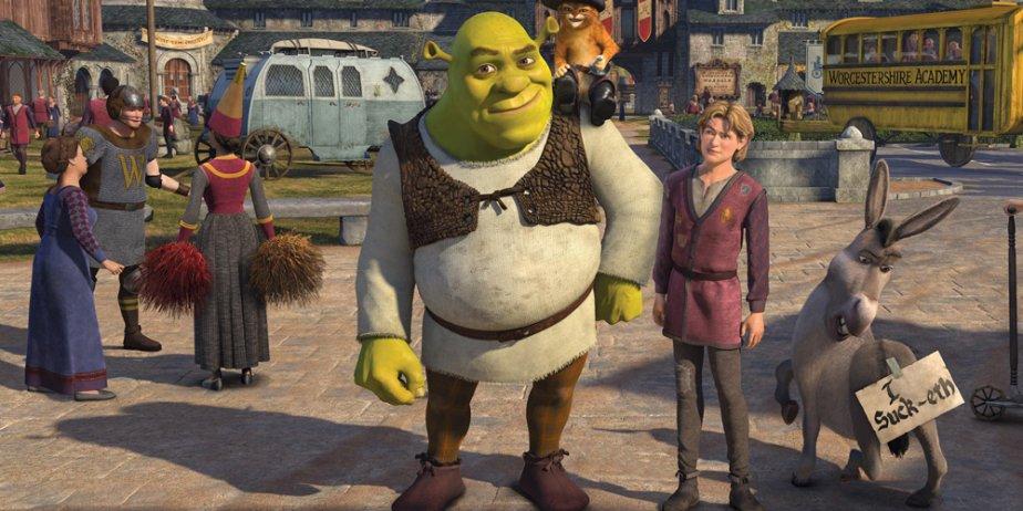 Une scène de Shrek 3... (Paramount Pictures)