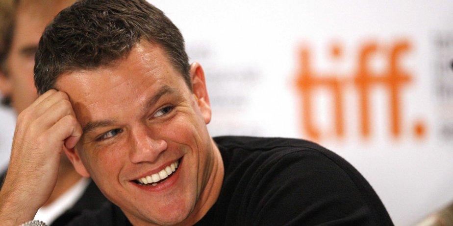 Matt Damon en conférence de presse à Toronto.... (Reuters)