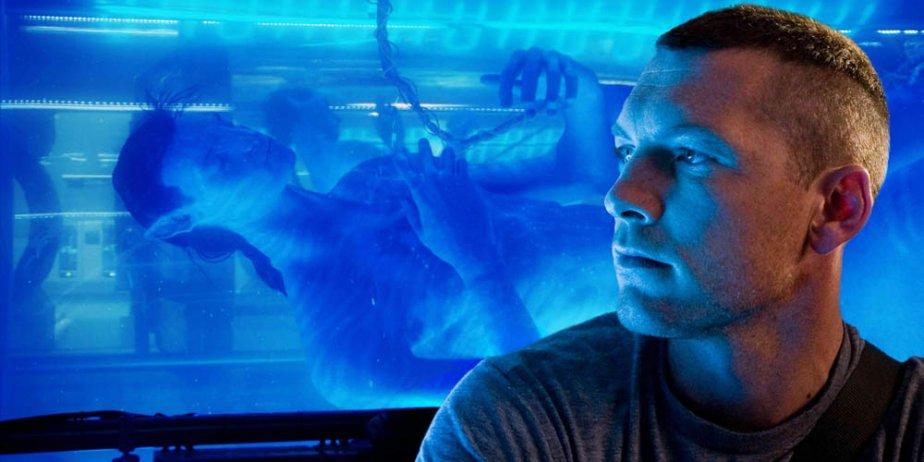 Sam Worthington dans une scène d'Avatar.... (AP)