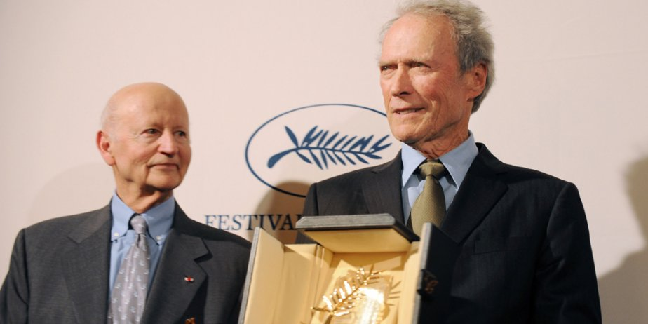 Gilles Jacob et Clint Eastwood... (AFP)