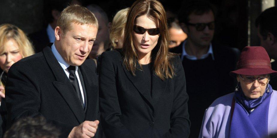 Carla Bruni aux obsèques de Guillaume Depardieu.... (AFP)