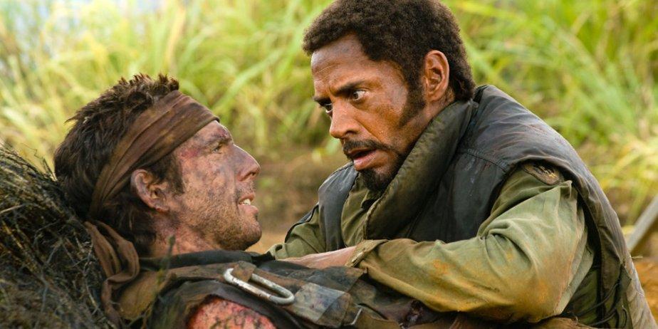 Ben Stiller et Robert Downey Jr. dans Tropic... (Paramount)