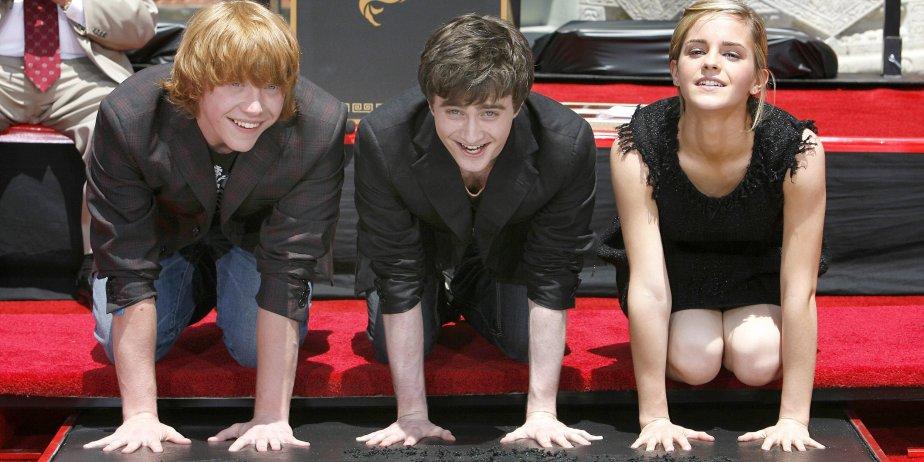 Rupert Grint, Daniel Radcliffe et Emma Watson à... (Reuters)