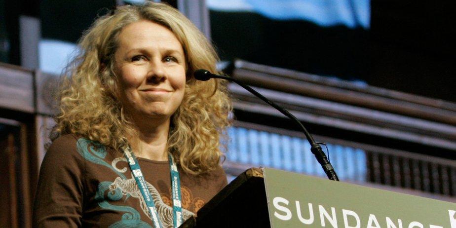 La réalisatrice de Frozen River, Courtney Hunt, accepte...