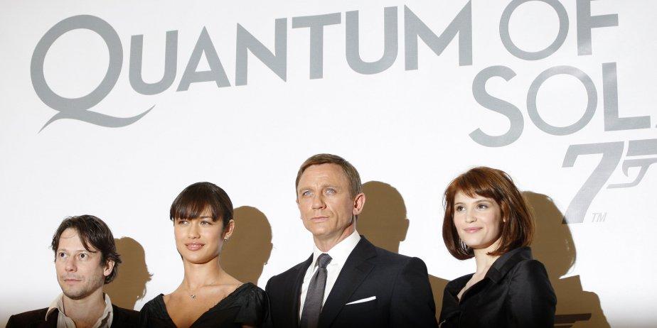 L'équipe de Quantum of Solace : Mathieu Amalric,... (Photo AFP)