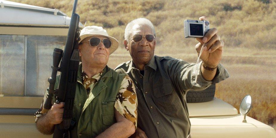 Dans The Bucket List, Jack Nicholson et Morgan... (Warner Bros)