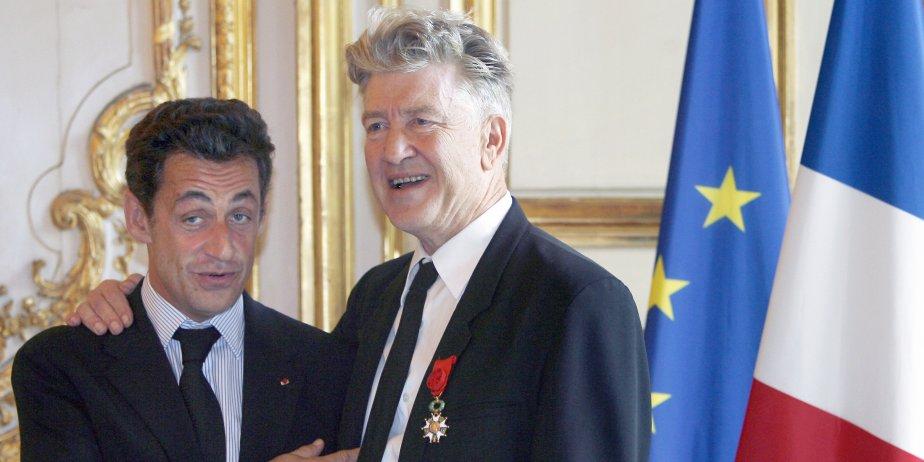 Nicolas Sarkozy et David Lynch... (AFP)