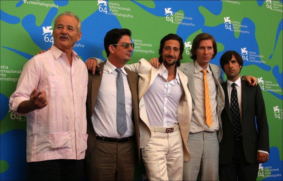 Bill Murray, Roman Coppola, Adrien Brody, Wes Anderson...