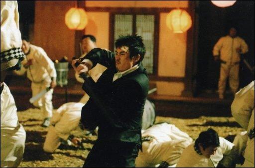 Une scène tirée du film de gangsters coréen...