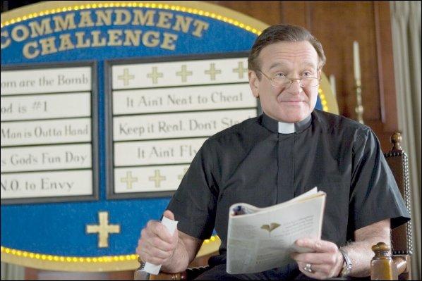 Robin Williams, qui donnait une conférence de presse...